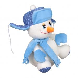 Снеговик Федя - новогодняя упаковка из текстиля.